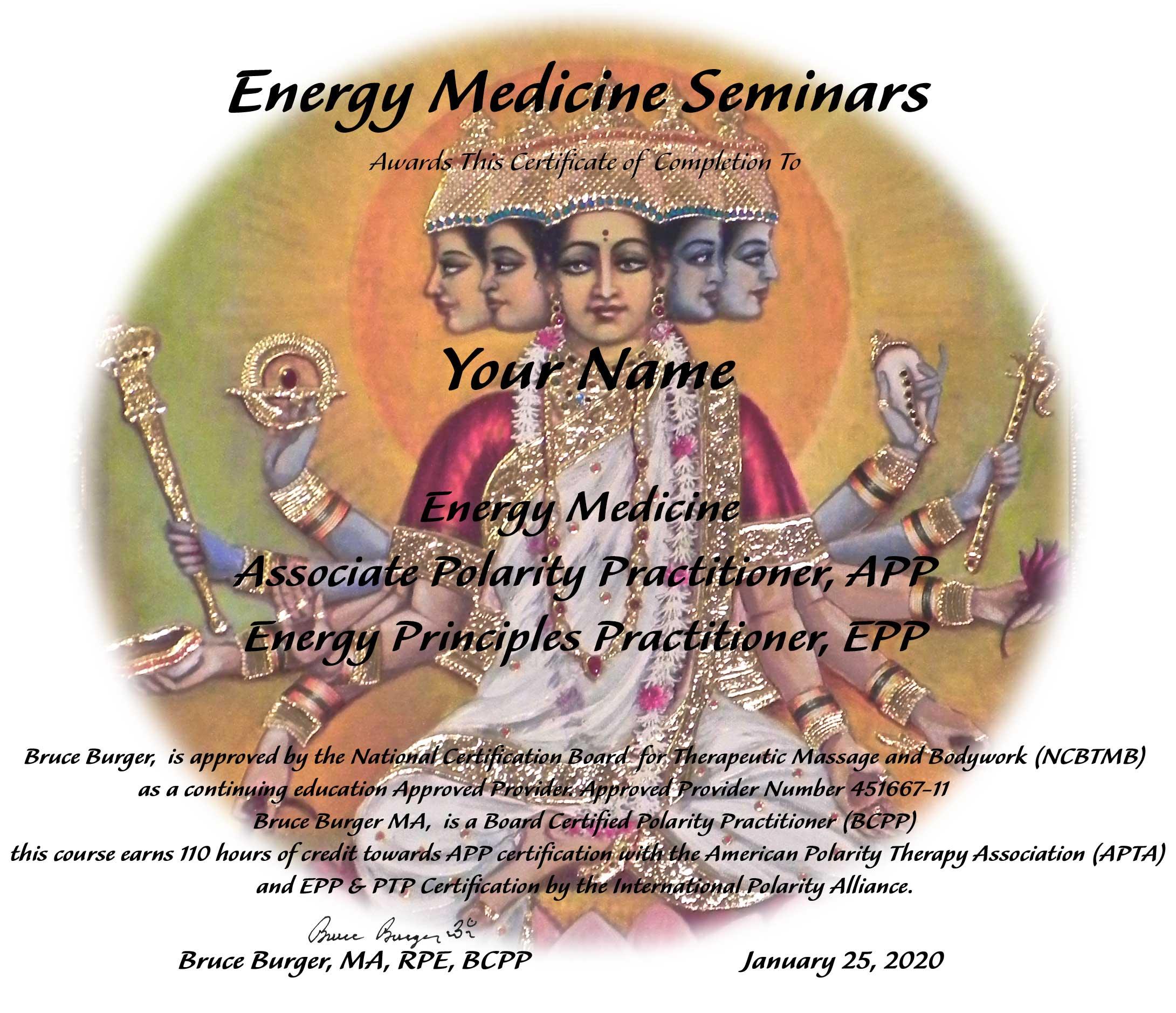 Energy Medicine Polarity Therapy