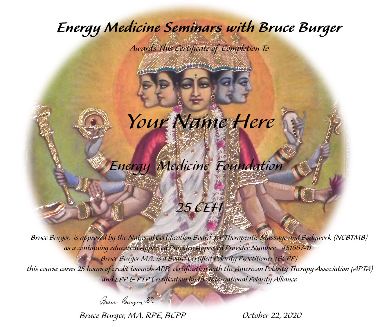 Energy Medicine Certificate