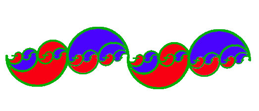 Yin Yang as infinitely recursive wave nest